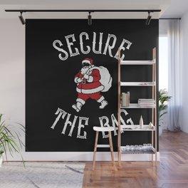 Secure The Bag Christmas Santa Wall Mural