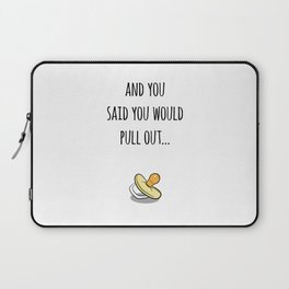 Oops Its a baby (TBD), funny pregnancy announcement Laptop Sleeve