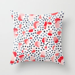 Salmon Run Throw Pillow