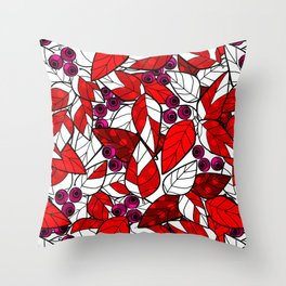 Retro . Bright colorful pattern . Throw Pillow