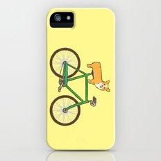 Corgi on a bike iPhone (5, 5s) Slim Case