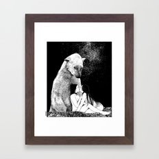 asc 257 - Le grand frère (The elder brother) - Night version Framed Art Print