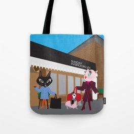 shopping fashionista cats Tote Bag