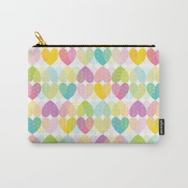 Colorful Sweet Candy Heart Pattern I Carry-All Pouch