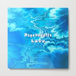 Psychedelic Love (ice blue) Metal Print