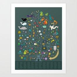 Magna Arbor Vitae Deku - Legend of Zelda Cladogram Art Print