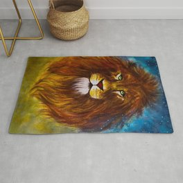 Brown wild lion Rug