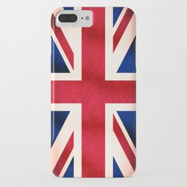 Union Jack UK British Grunge Flag  iPhone Case