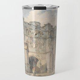 """J.M.W. Turner """"Christ Church Gate, Canterbury"""" Travel Mug"""