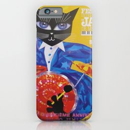 1994 Montreal Jazz Festival Cool Cat Poster No. 3 Gig Advertisement iPhone Case