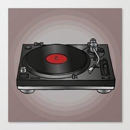 Vinyl record player Canvas Print