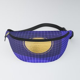 Moonlight Abstract Blue Fanny Pack