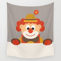 clown Wall Tapestries featuring Clown by Design4u Studio