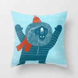 Snow Yeah Throw Pillow