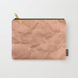 Kraft paper. crumpled paper Carry-All Pouch