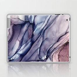 Slate Purple and Sparkle Flowing Abstract Laptop & iPad Skin