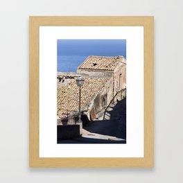 "Old Abandoned Farmhouse - Sicily - ""Vacancy"" zine  Framed Art Print"