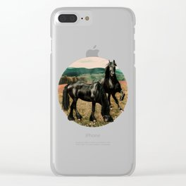 Friesian Morning Clear iPhone Case