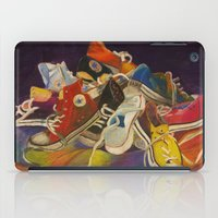 sneakers iPad Cases featuring Sneakers by Jocelyn Mendoza