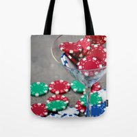 poker Tote Bags featuring Poker night by smittykitty