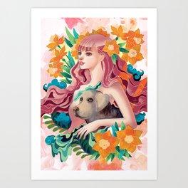 Dog Lover Art Print