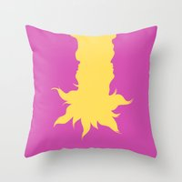 tangled Throw Pillows featuring Tangled by Citron Vert