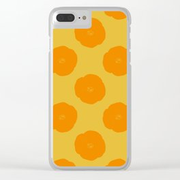 Citrus Color Botanical Pattern Clear iPhone Case