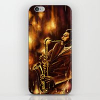 jazz iPhone & iPod Skins featuring Jazz by Linarts