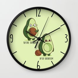 Before After Bathroom Wall Clock