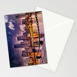 Skyline of Boston Harbor Stationery Cards