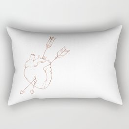 Cupid Heart in Pink Rose Gold Rectangular Pillow