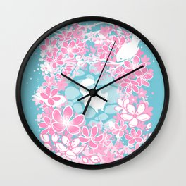 Spring Greeting Wall Clock