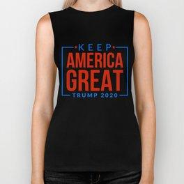Re-Elect Trump for President. Keep America Great! Dark Biker Tank
