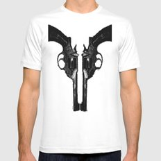 That's When I Reach For My Revolver Mens Fitted Tee White LARGE