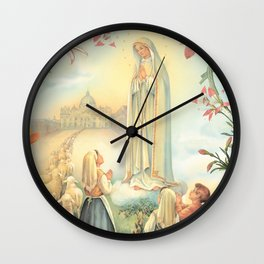 Virgen de Fátima Wall Clock