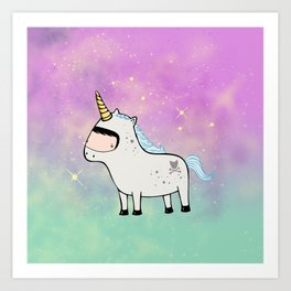 Unicorn Galaxy Art Print