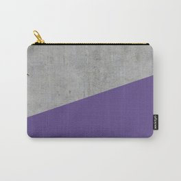 Concrete with Ultra Violet Color Carry-All Pouch