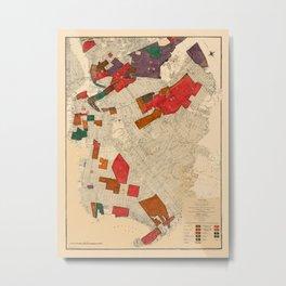Map Of New York 1915 Metal Print