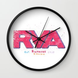 Rva Logo   ' Graffiti Style ' Wall Clock