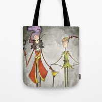 hook Tote Bags featuring Pan & Hook by Jena Sinclair