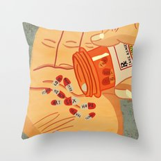 RX for Life Throw Pillow