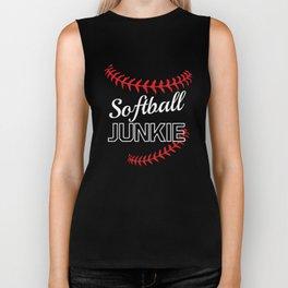 Softball Junkie Graphic Funny Sports T-shirt Biker Tank