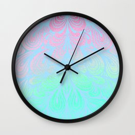 Pattern of Pastel Swirls Wall Clock