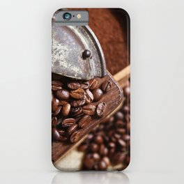 Coffee grinder with coffee beans picture 2 iPhone Case