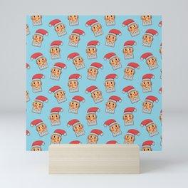 head santa claus pattern Mini Art Print