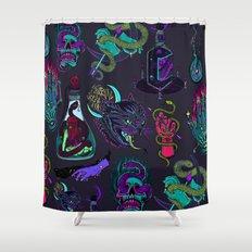Neon Demons Shower Curtain