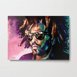 Lenny Kravitz abstract portrait Metal Print