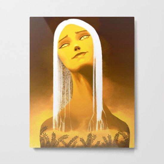 Luminescent Gold Metal Print