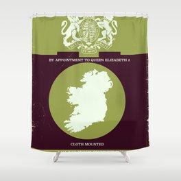 Vintage Ireland Map navigation poster. Shower Curtain