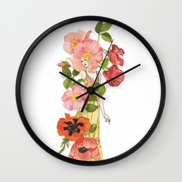 Sweet Pea Wall Clock